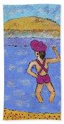 Barb's Beach Waving Beach Towel