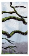 Bare Tree Branches Beach Towel