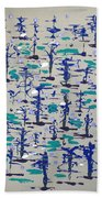 Bare Trees Beach Towel