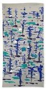 Bare Trees Beach Towel