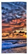 Barefoot Beach Sunset Beach Towel