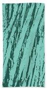 Bark Texture Turquoise Beach Towel