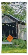 Barkhurst Covered Bridge  Beach Towel