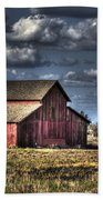 Barn After Storm Beach Towel