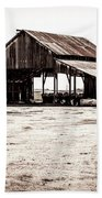Barn And Irrigation Pipes Beach Towel
