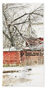 Barn And Pond Beach Towel