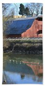 Barn And Reflections Beach Towel
