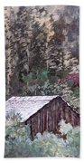 Barn At Cades Cove Beach Towel