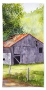 Barn By The Road Beach Towel