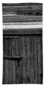 Barn Door And Windows Bw Beach Towel