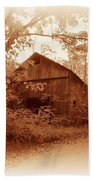 Barn Hocking Co Ohio Sepia Beach Towel