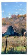 Barn In Liberty Mo Beach Towel