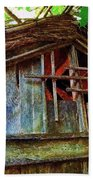 Barn In Summer Colors Beach Towel
