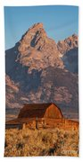 Barn In The Tetons One Beach Towel