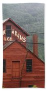 Barn In Vermont Along Amtrack Beach Towel