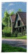 Barn Near Lac De Panthier - P4a160017 Beach Towel