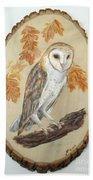 Barn Owl - Enduring Insight Beach Towel