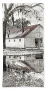 Barn Reflection Beach Towel