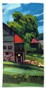 Barn Roofs Beach Towel