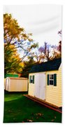 Barns In Autumn Beach Towel