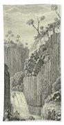 Basalt Rocks And The Cascade De Regla, Beach Towel