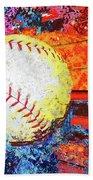 Baseball Art Version 6 Beach Towel