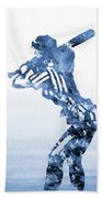 Baseball Girl-blue Beach Towel