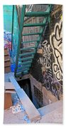Basement Apartment In Graffiti Alley Beach Towel