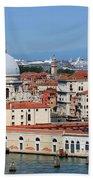 Basilica Della Salute And Punta Della Dogana In Venice Italy Beach Towel
