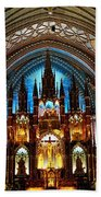 Notre - Dame Basilica - Montreal Beach Towel