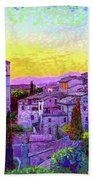 Basilica Of St. Francis Of Assisi Beach Towel