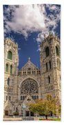 Basilica Of The Sacred Heart Newark New Jersey Beach Towel