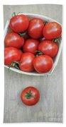 Basket Of Fresh Red Tomatoes Beach Sheet