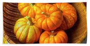 Basket Of Pumpkins Beach Towel
