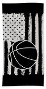 Basketball American Flag Usa Apparel Beach Towel
