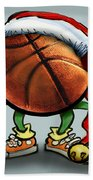 Basketball Christmas Beach Towel