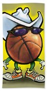 Basketball Cowboy Beach Towel