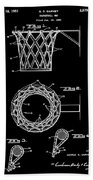Basketball Net Patent 1951 In Black Beach Towel