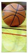 Basketball Reflections Beach Towel