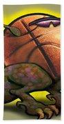 Basketball Saurus Rex Beach Sheet