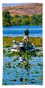 Bass Fishing Beach Towel