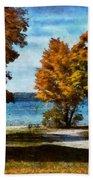 Bass Lake October Beach Towel