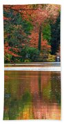 Pond In Autumn Beach Towel