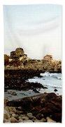 Bass Rocks Sunset Beach Towel