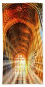 Bath Abbey Sun Rays Beach Towel
