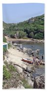 Bathers At Cales Coves Beach Towel