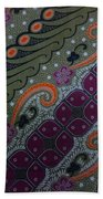 Batik Art Pattern Beach Towel
