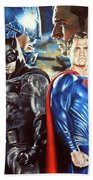 Batman V Superman Beach Towel