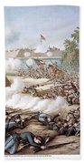 Battle Of Corinth, 1862 Beach Towel