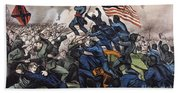 Battle Of Fort Wagner, 1863 Beach Towel